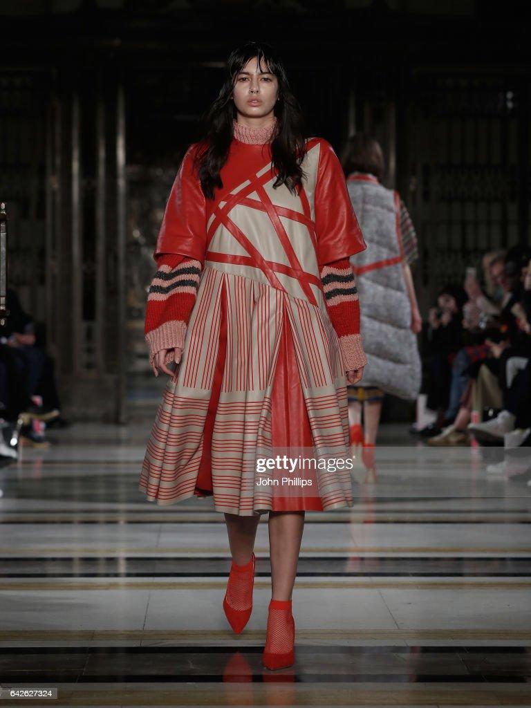 model-walks-the-runway-at-the-merit-award-winner-katie-ann-mcguigan-picture-id642627324
