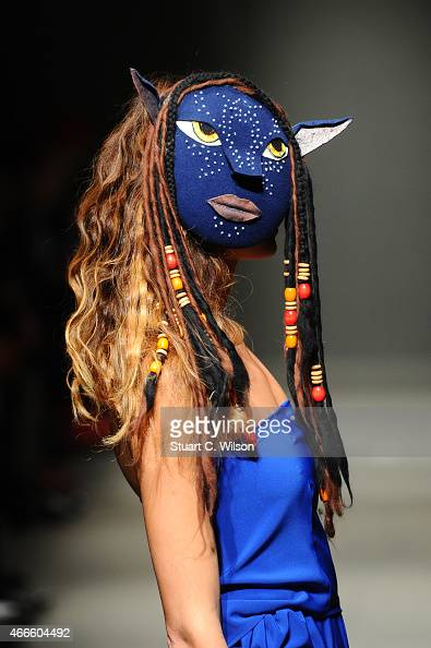 A model walks the runway at the Merve Bayindir show during Mercedes Benz Fashion Week Istanbul FW15 on March 17 2015 in Istanbul Turkey