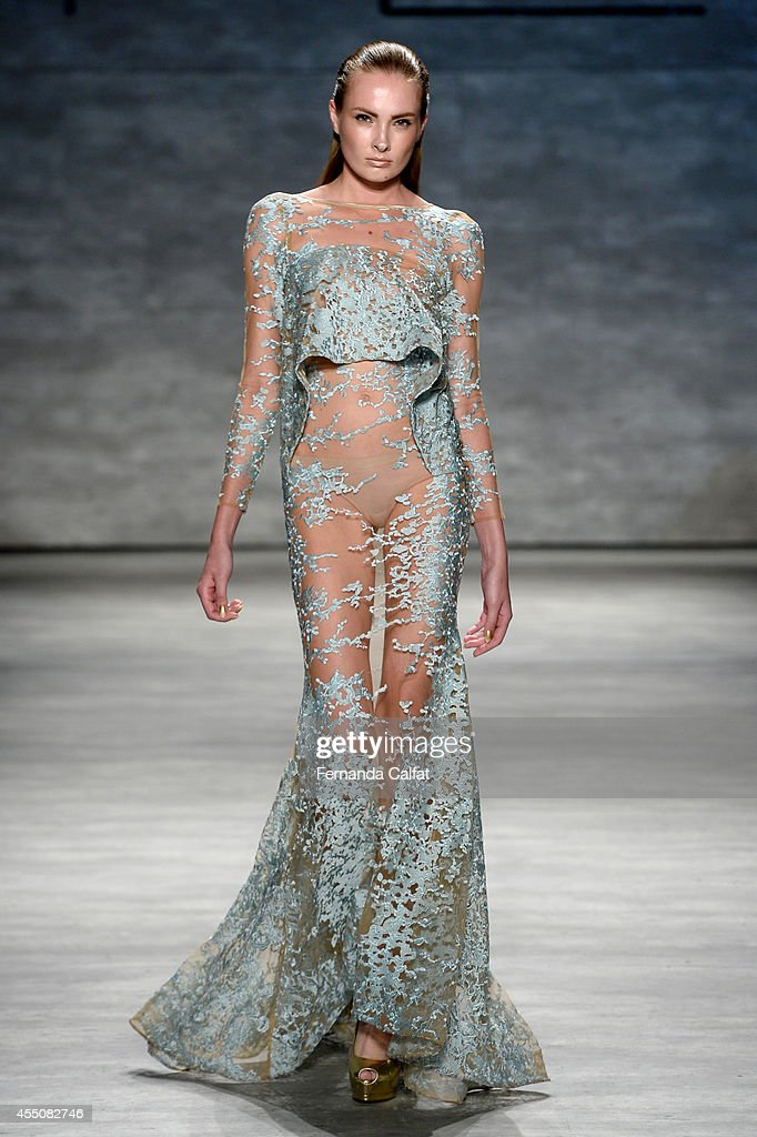 Michael Costello Runway Mercedes Benz Fashion Week Spring 2015 Getty Images
