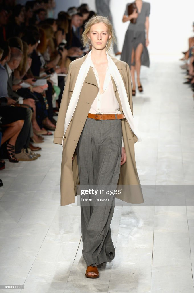 A model walks the runway at the Michael Kors fashion show during Mercedes-Benz Fashion Week Spring 2014 on September 11, 2013 in New York City.