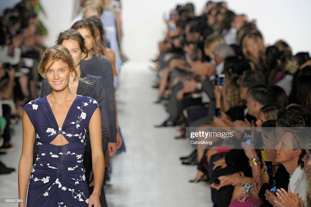 A model walks the runway at the Michael Kors Spring Summer 2014 fashion show during New York Fashion Week on September 11, 2013 in New York, United States.