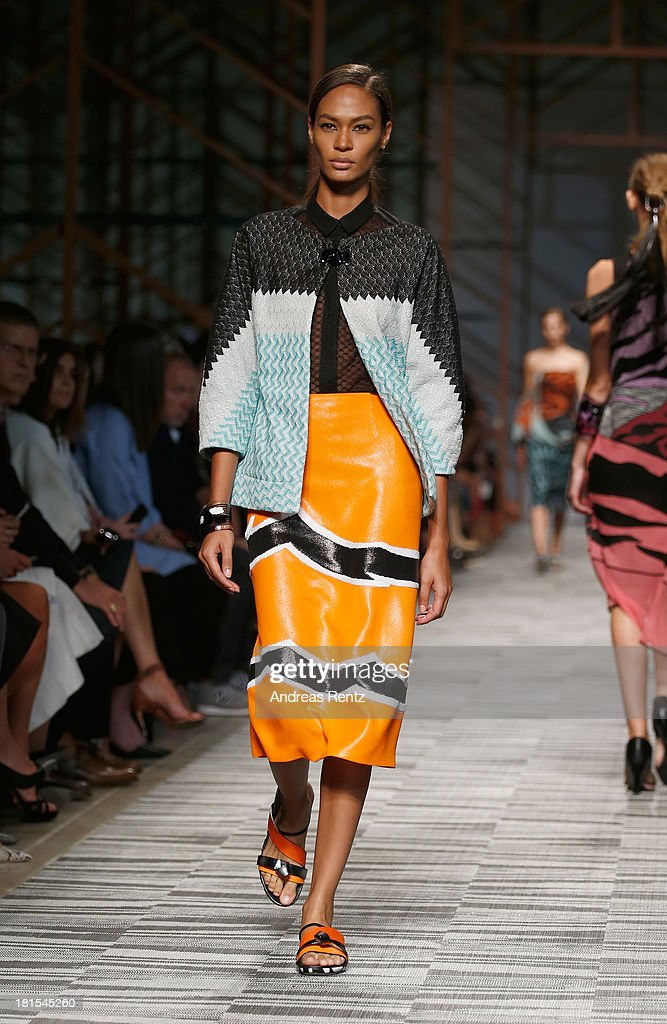 A model walks the runway at the Missoni show as part of Milan Fashion Week Womenswear Spring/Summer 2014 at on September 22, 2013 in Milan, Italy.