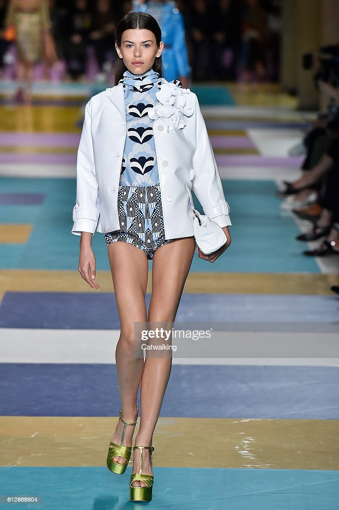 model-walks-the-runway-at-the-miu-miu-spring-summer-2017-fashion-show-picture-id612868904