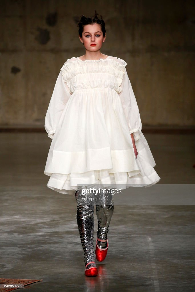 model-walks-the-runway-at-the-molly-goddard-show-during-the-london-picture-id642859278