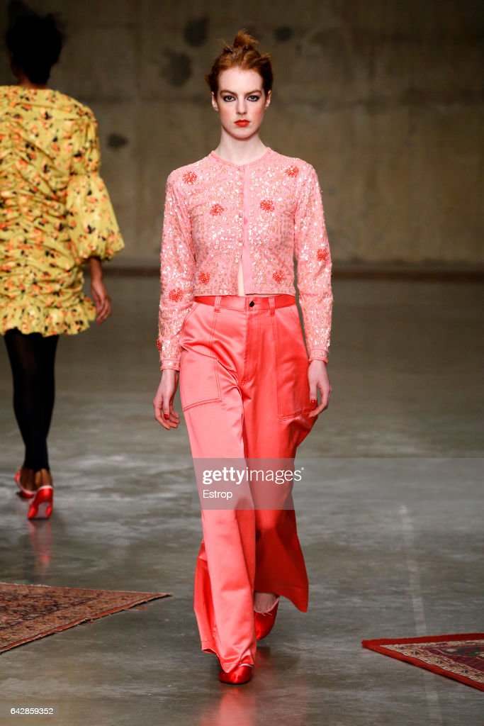 model-walks-the-runway-at-the-molly-goddard-show-during-the-london-picture-id642859352