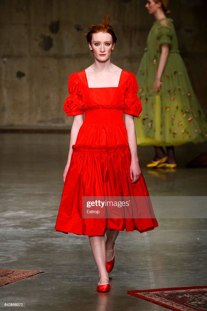 model-walks-the-runway-at-the-molly-goddard-show-during-the-london-picture-id642859372