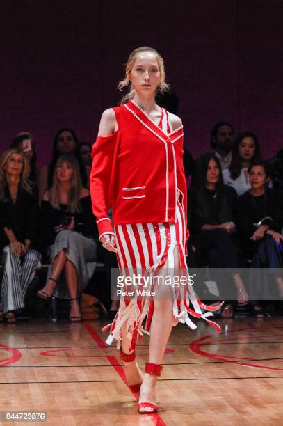 A model walks the runway at the Monse fashion show during New York Fashion Week The Shows on September 8 2017 in New York City