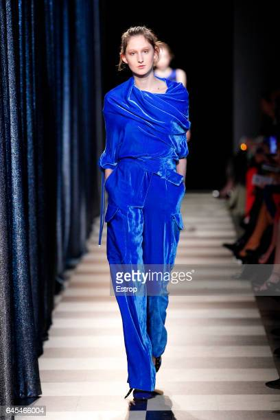 A model walks the runway at the Monse show during the New York Fashion Week February 2017 collections on February 13 2017 in New York City
