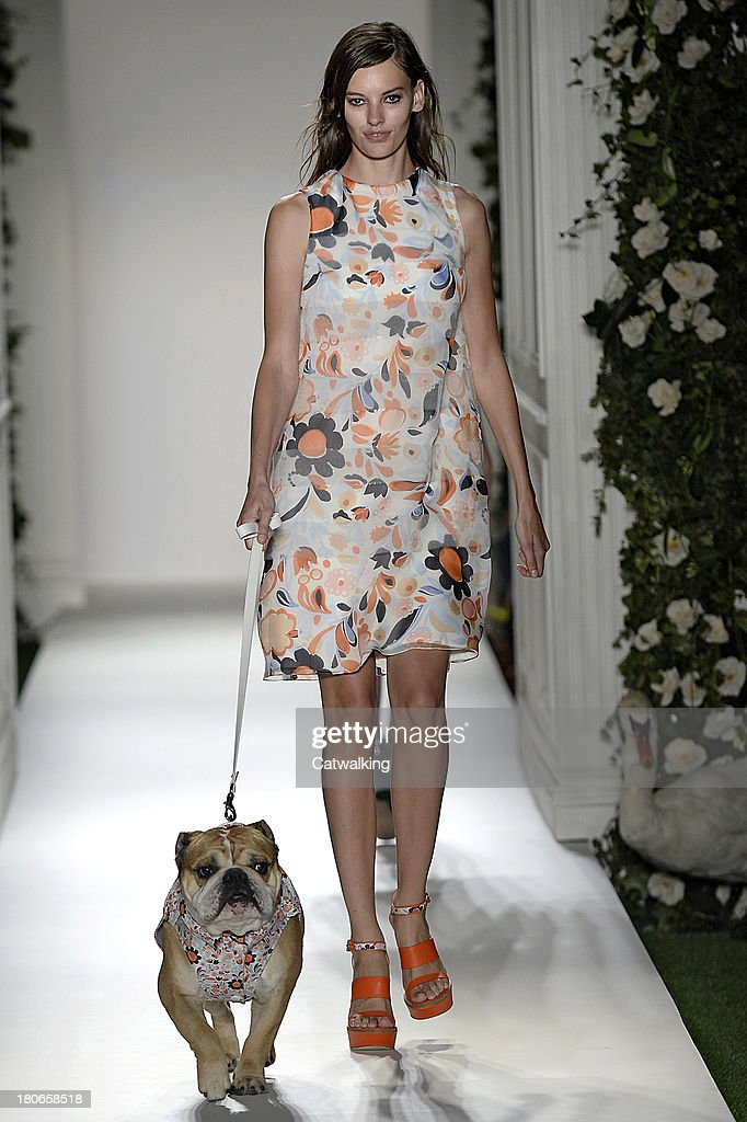 A model walks the runway at the Mulberry Spring Summer 2014 fashion show during London Fashion Week on September 15, 2013 in London, United Kingdom.