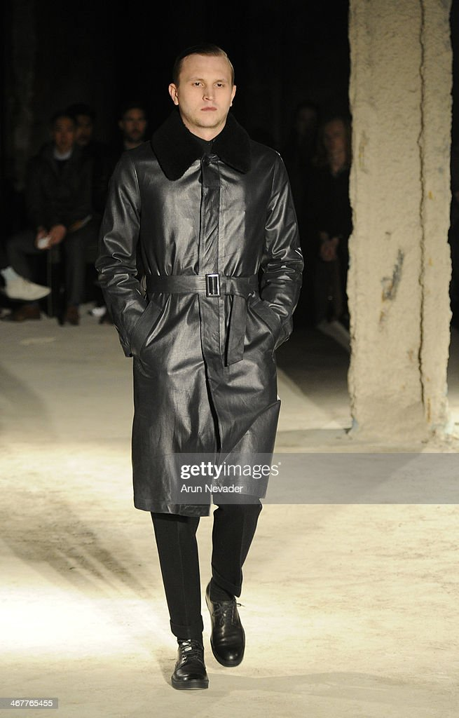A model walks the runway at the N Hoolywood fashion show during MercedesBenz Fashion Week Fall 2014 at JP Morgan Chase on February 7 2014 in New York...