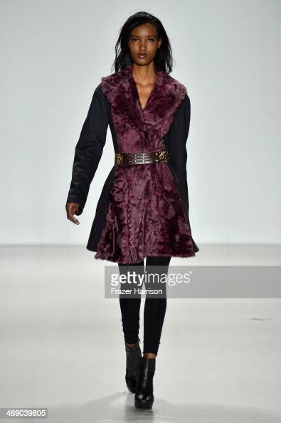 A model walks the runway at the Nanette Lepore fashion show during MercedesBenz Fashion Week Fall 2014 at Lincoln Center on February 12 2014 in New...