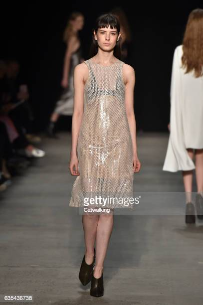 A model walks the runway at the Narciso Rodriguez Autumn Winter 2017 fashion show during New York Fashion Week on February 14 2017 in New York United...