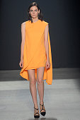 A model walks the runway at the Narciso Rodriguez Spring Summer 2014 fashion show during New York Fashion Week on September 10 2013 in New York...