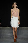 A model walks the runway at the Narciso Rodriguez Spring Summer 2015 fashion show during New York Fashion Week on September 9 2014 in New York United...