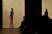 A model walks the runway at the Narciso Rodriguez Spring Summer 2016 fashion show during New York Fashion Week on September 15 2015 in New York City