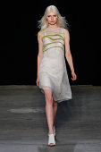 A model walks the runway at the Narciso Rodriguez SS15 Collection at SIR Stage37 on September 9 2014 in New York City