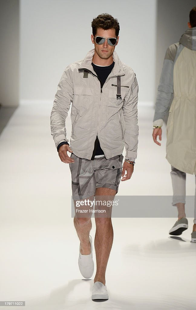 A model walks the runway at the Nautica Men's Spring 2014 fashion show during Mercedes-Benz Fashion Week at Lincoln Center on September 6, 2013 in New York City.