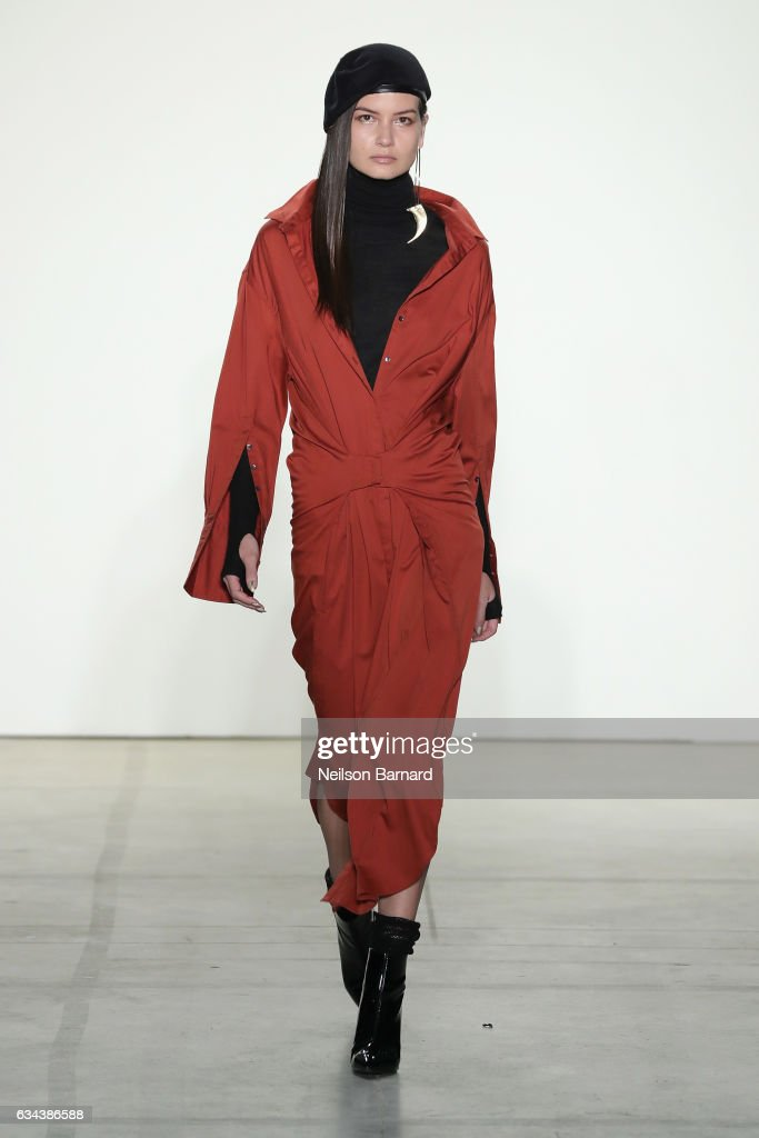 model-walks-the-runway-at-the-nicholas-k-show-during-new-york-fashion-picture-id634386588