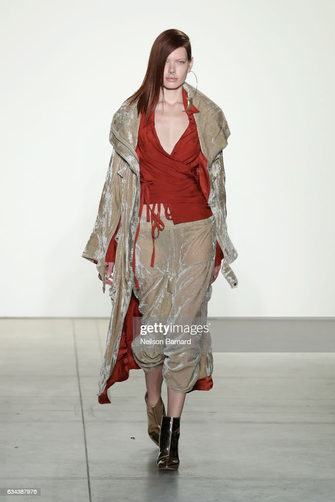 model-walks-the-runway-at-the-nicholas-k-show-during-new-york-fashion-picture-id634387976