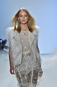 A model walks the runway at the Nicole Miller Autumn Winter 2016 fashion show during New York Fashion Week on February 12 2016 in New York United...