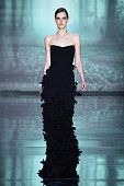 A model walks the runway at the Nicole Miller fashion show during MercedesBenz Fashion Week Fall 2015 at The Salon at Lincoln Center on February 13...