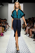 A model walks the runway at the Ohne Titel fashion show during Spring 2016 New York Fashion Week The Shows at The Gallery Skylight at Clarkson Sq on...