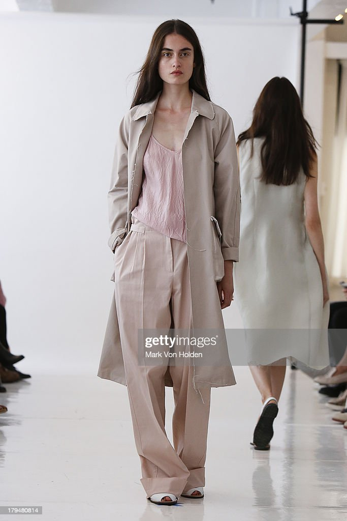 A model walks the runway at the Organic By John Patrick fashion show during Mercedes-Benz Fashion Week Spring 2014 on September 4, 2013 in New York City.