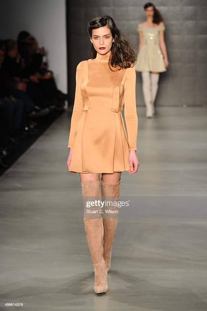 A model walks the runway at the Osgur Masur show during Mercedes Benz Fashion Week Istanbul FW15 on March 17 2015 in Istanbul Turkey