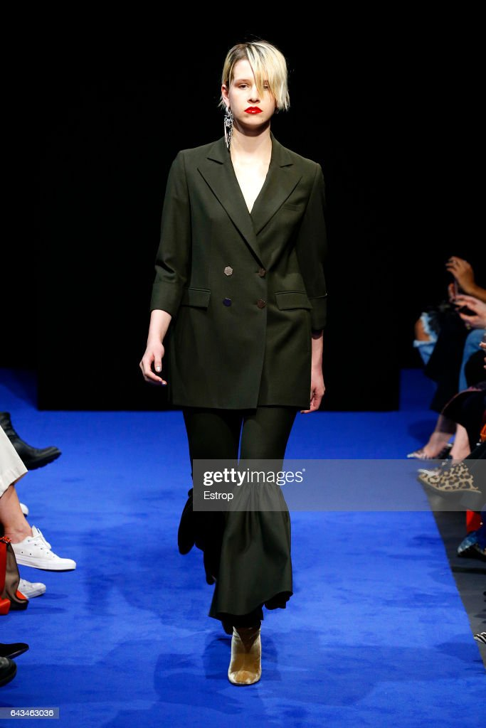 model-walks-the-runway-at-the-osman-show-during-the-london-fashion-picture-id643463036