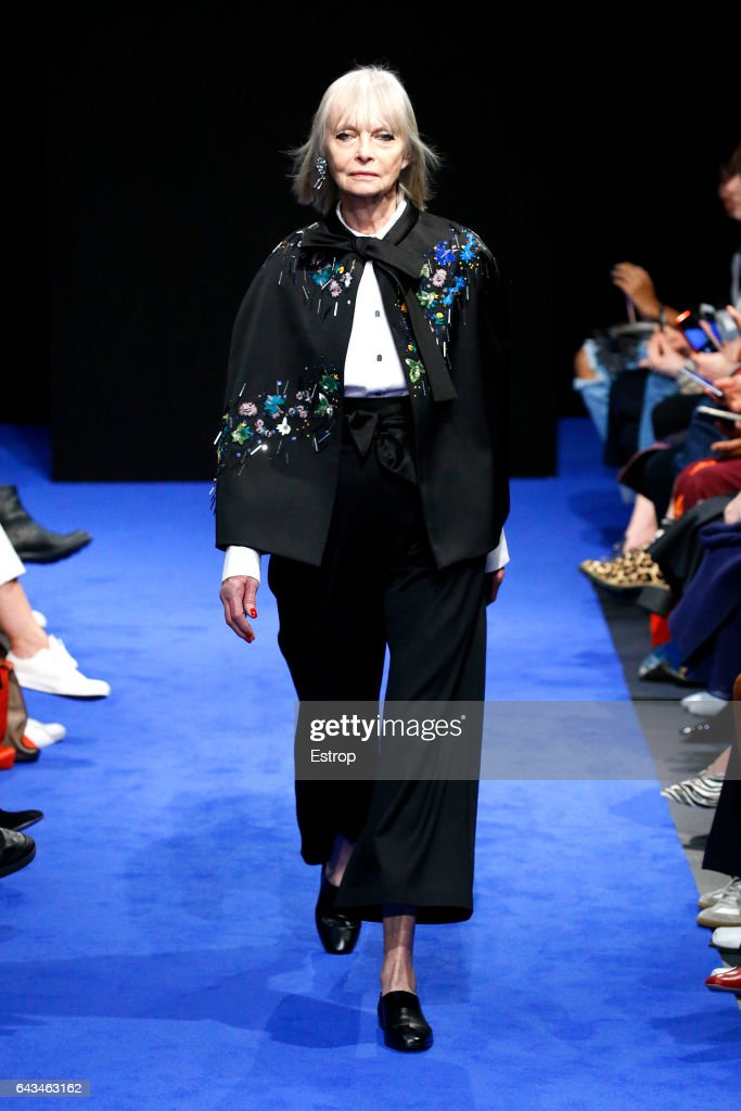model-walks-the-runway-at-the-osman-show-during-the-london-fashion-picture-id643463162