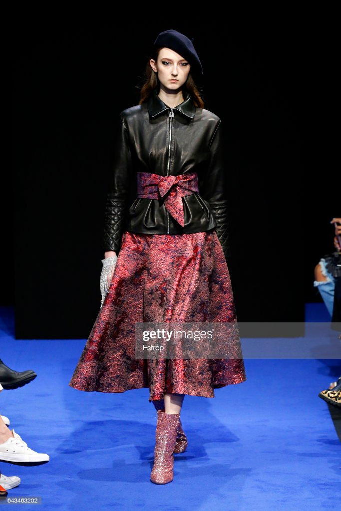 model-walks-the-runway-at-the-osman-show-during-the-london-fashion-picture-id643463202