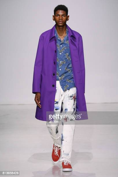 A model walks the runway at the Ovadia Sons Spring 2018 Collection at Skylight Clarkson Sq on July 12 2017 in New York City
