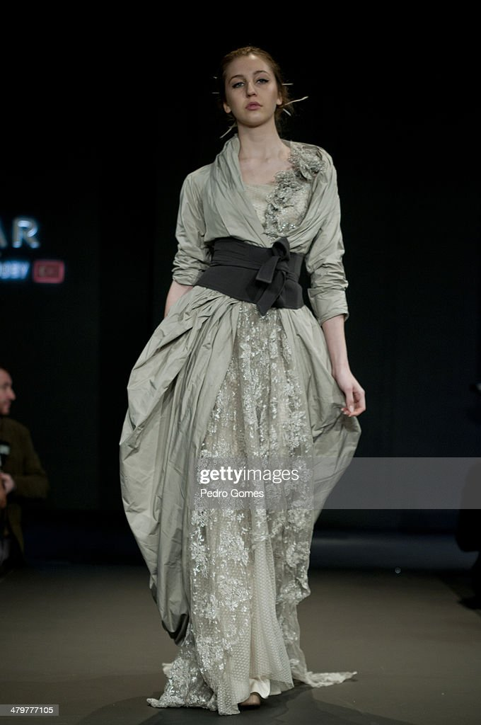 A model walks the runway at the Ozlem Suer show during MBFWI presented by American Express Fall/Winter 2014 on March 20, 2014 in Istanbul, Turkey.