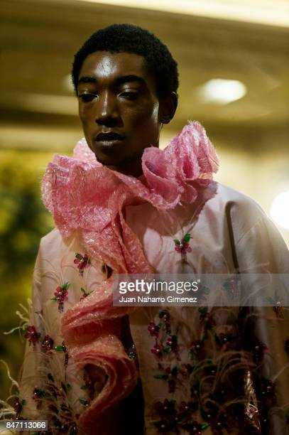 A model walks the runway at the Palomo Spain show during the MercedesBenz Fashion Week Madrid Spring/Summer 2018 on September 14 2017 in Madrid Spain