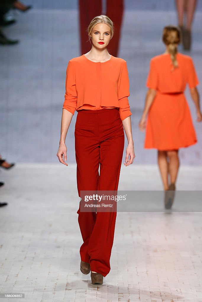 A model walks the runway at the Pamb show during Mercedes-Benz Fashion Days Zurich 2013 on November 14, 2013 in Zurich, Switzerland.