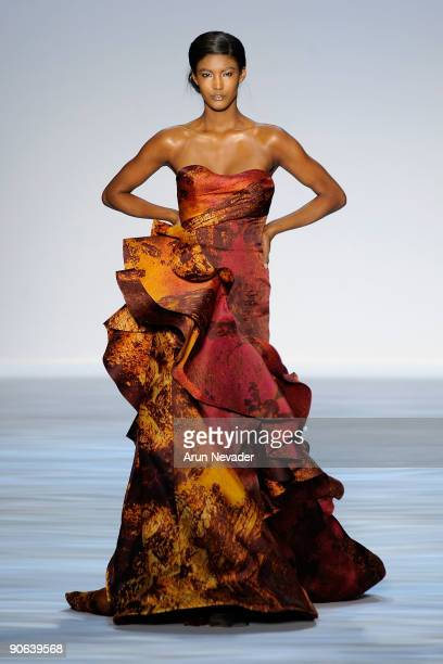 A model walks the runway at the Payless at Christian Siriano Spring 2010 Fashion Show during MercedesBenz Fashion Week at Bryant Park on September 12...
