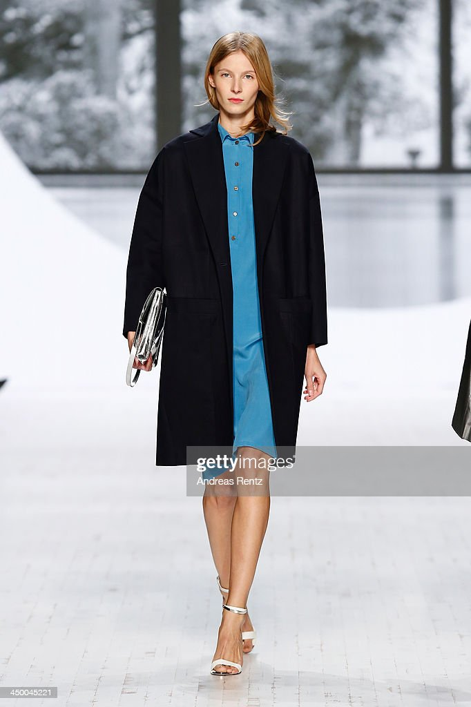 A model walks the runway at the Perret Schaad show during Mercedes-Benz Fashion Days Zurich 2013 on November 16, 2013 in Zurich, Switzerland.