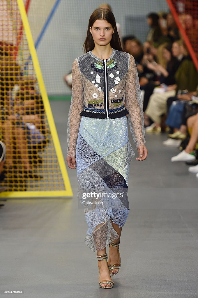 A model walks the runway at the Peter Pilotto Spring Summer 2016 fashion show during London Fashion Week on September 21 2015 in London United Kingdom