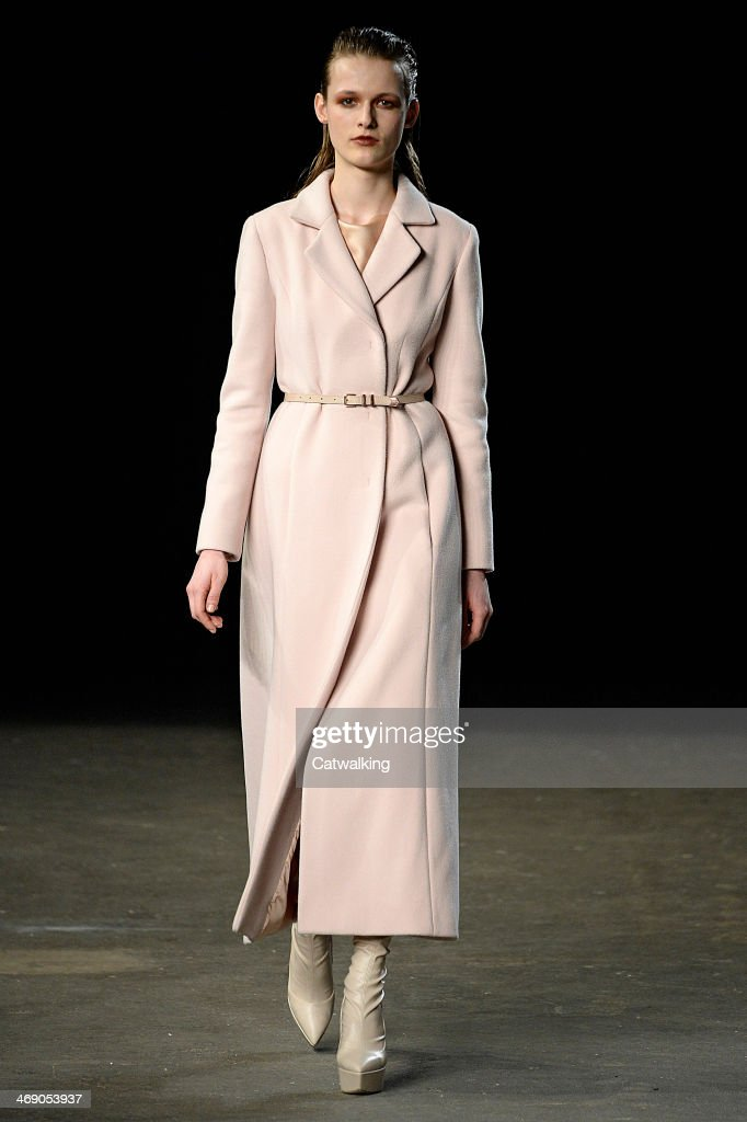 A model walks the runway at the Philosophy Autumn Winter 2014 fashion show during New York Fashion Week on February 12, 2014 in New York, United States.