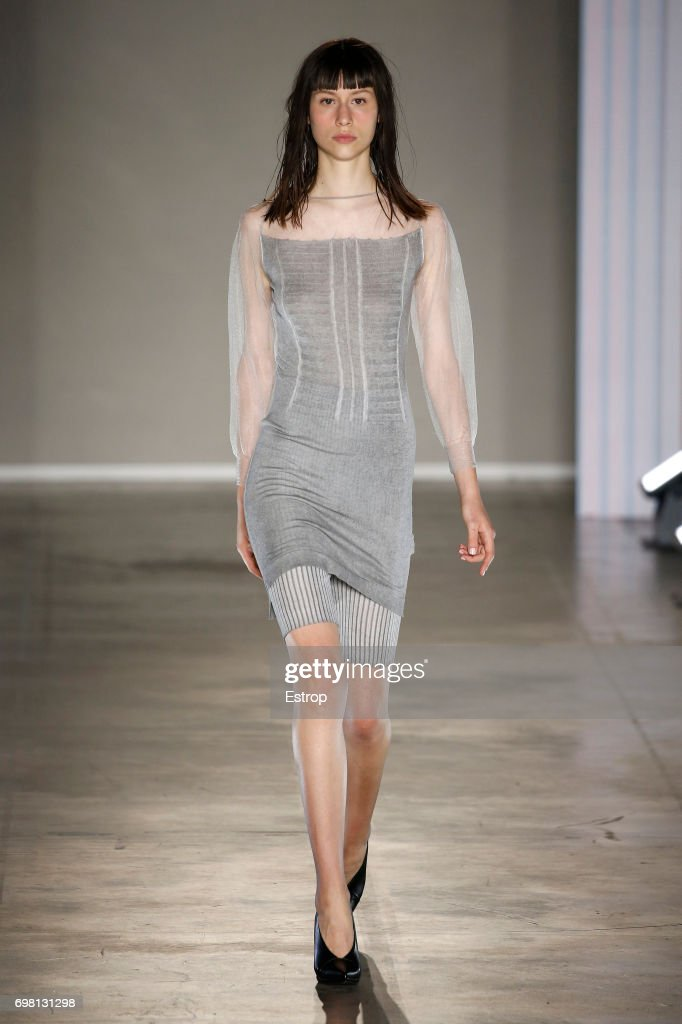 A model walks the runway at the Poan show during Milan Men's Fashion Week Spring/Summer 2018 on June 19, 2017 in Milan, Italy.