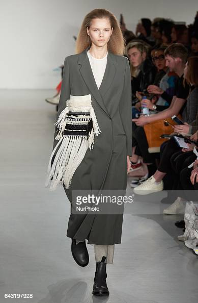 A model walks the runway at the Ports 1961 show during the London Fashion Week February 2017 collections on February 18 2017 in London England