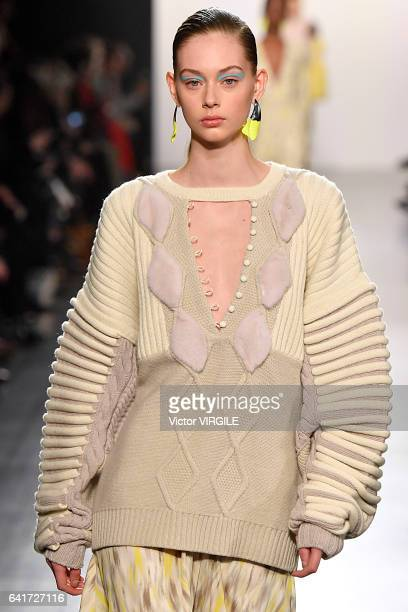 A model walks the runway at the Prabal Gurung fashion show during New York Fashion Week Fall Winter 20172018 on February 12 2017 in New York City