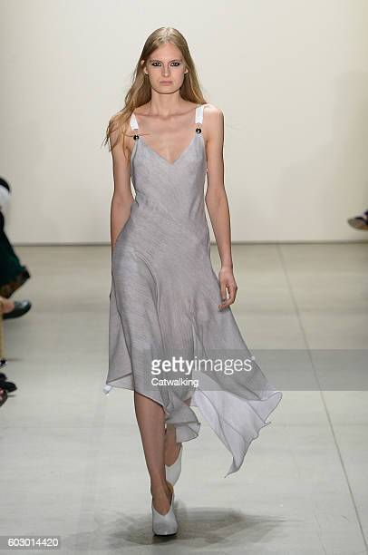 A model walks the runway at the Prabal Gurung Spring Summer 2017 fashion show during New York Fashion Week on September 11 2016 in New York United...