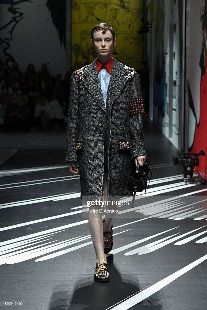 model-walks-the-runway-at-the-prada-show-during-milan-fashion-week-picture-id850745492