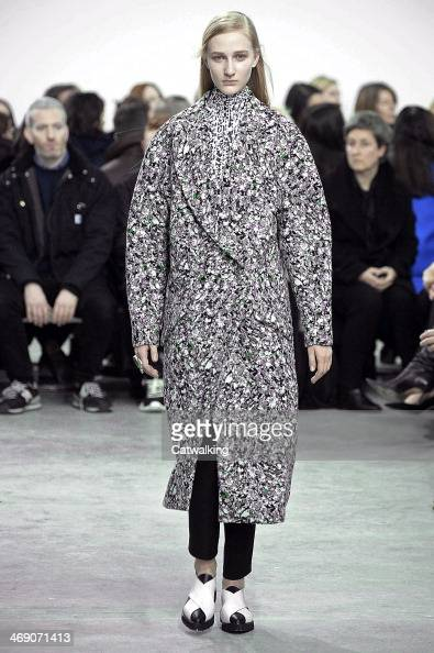 A model walks the runway at the Proenza Schouler Autumn Winter 2014 fashion show during New York Fashion Week on February 12 2014 in New York United...