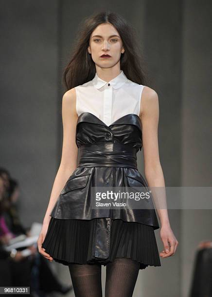 A model walks the runway at the Proenza Schouler Fall 2010 Fashion Show during MercedesBenz Fashion Week at Milk Studios on February 17 2010 in New...