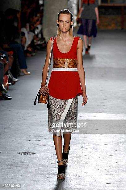 A model walks the runway at the Proenza Schouler fashion show during MercedesBenz Fashion Week Spring 2015 on September 10 2014 in New York City