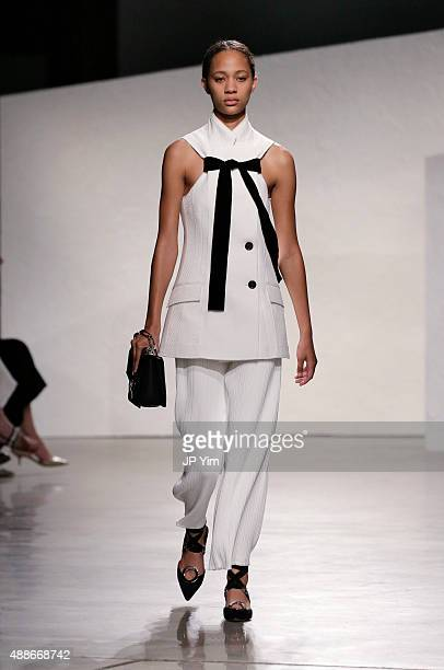 A model walks the runway at the Proenza Schouler Spring 2016 fashion show during New York Fashion Week on September 16 2015 in New York City