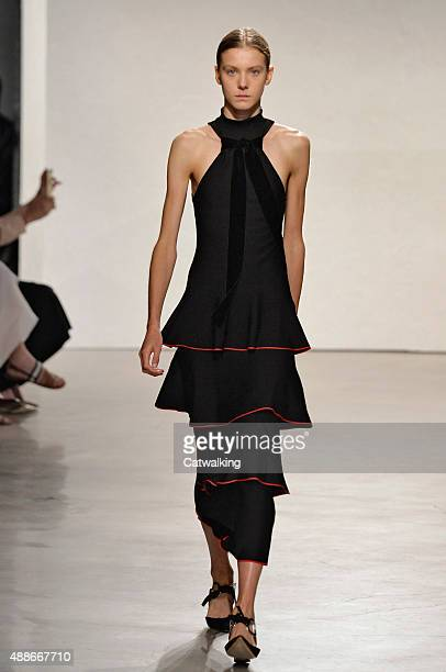 A model walks the runway at the Proenza Schouler Spring Summer 2016 fashion show during New York Fashion Week on September 16 2015 in New York United...