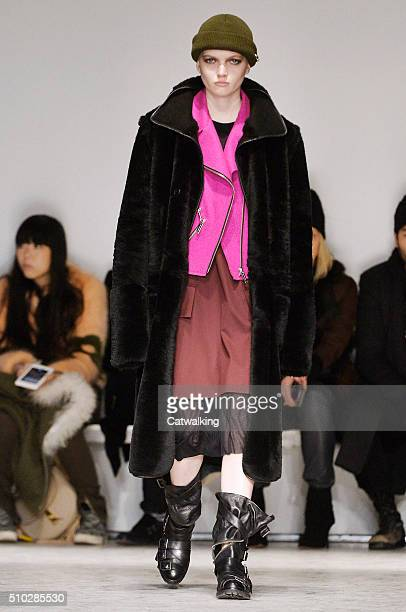 A model walks the runway at the Public School Autumn Winter 2016 fashion show during New York Fashion Week on February 14 2016 in New York United...